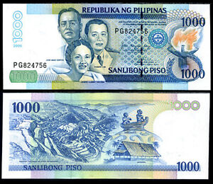PHILIPPINES 1000 1,000 PESOS 2018 P 211 NEW DATE UNC