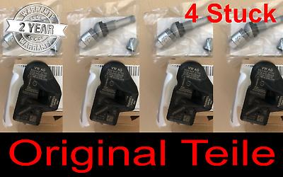 4x RDKS TPMS Reifendrucksensoren Metallventil für Audi VW Skoda Porsche
