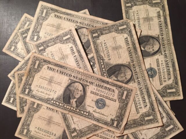 1957 1957a 1957b One Dollar Bill Silver Certificate Well Circulated