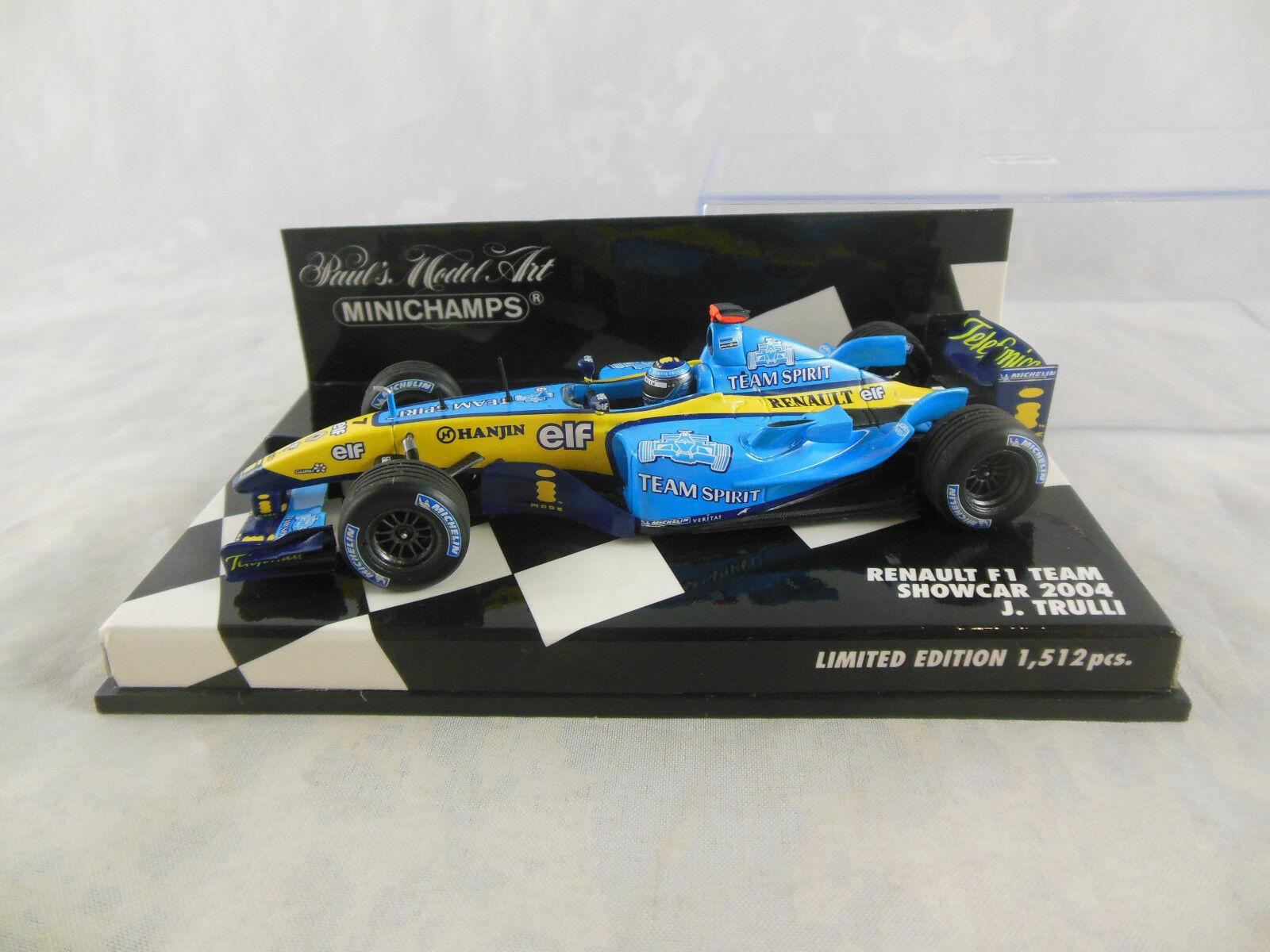 MINICHAMPS 400 040097 2004 RENAULT F1 TEAM Car  7 J Trulli