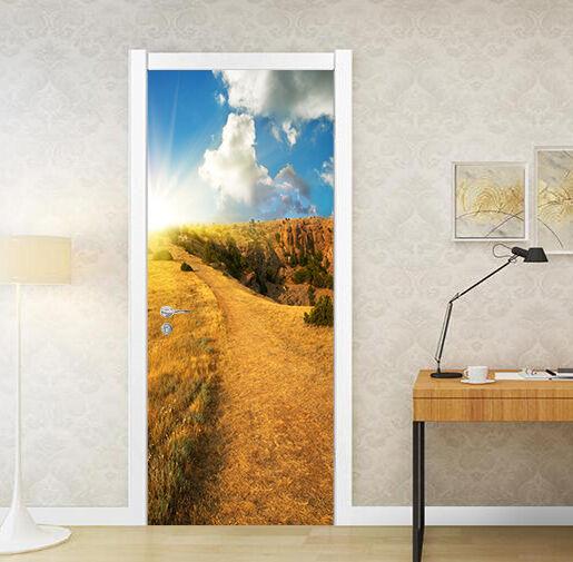 3D Paddy Felder Tür Mauer Wandgemälde Foto Wandaufkleber AJ WALL DE Lemon