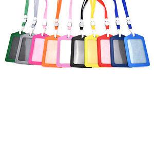 vertical transverse plastic id name card holder work badge w