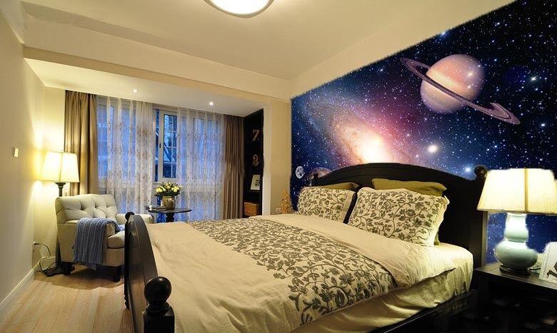 3D Galaxy Planet 722 Wallpaper Mural Paper Wall Print Wallpaper Murals UK Lemon