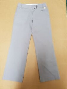 Y567-WOMENS-TOMMY-HILFIGER-GREY-STRAIGHT-LEG-TROUSERS-UK-M-10-W29-L30