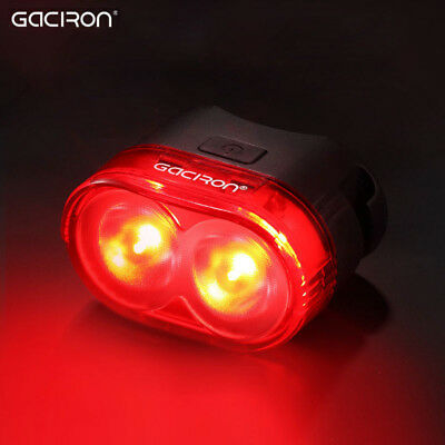 GACIRON Cycling Rear Safety Intelligent Warning Tail Light Flash Lamp