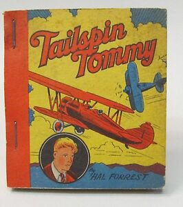 1935-TAILSPIN-TOMMY-Hal-Forrest-TARZAN-Ice-Cream-Premium-book-High-Grade-MINT
