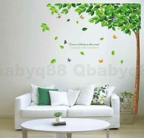 Large love tree Wall stickers Removable decals home decor art kids nursery mural