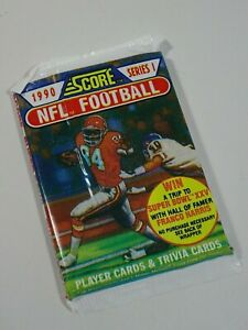 1990-NFL-Football-Score-Series-1-Trading-Card-Pack-of-17-Cards