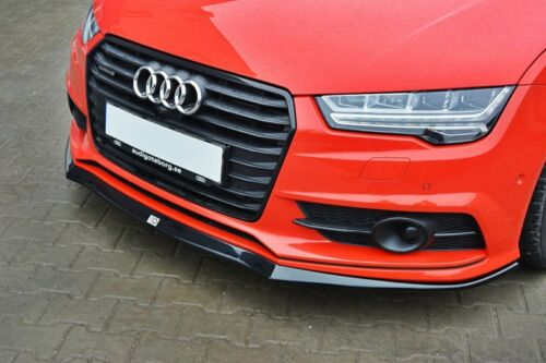 schwarze Spoilerlippe für Audi A7 S Line Bj 14 Frontspoiler Ansatz A4 Schwert