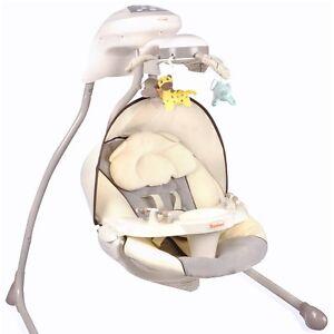 automatik babyschaukel baninni grau automatische elektrische baby wiege wippe. Black Bedroom Furniture Sets. Home Design Ideas