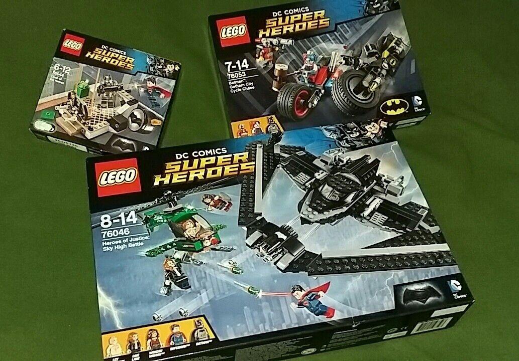 LEGO DC COMICS SUPER HEROES 76053, 76044, 76046, BATMAN GOTHAM SUPERMAN NEW