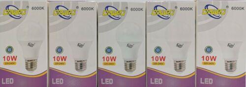 Blanc Froid 6000K LOT de 5 Ampoules LED E27 10W = 75W  Lampe LED 810Lm