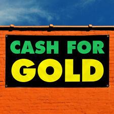 Vinyl Banner Sign Cash For Gold 1 Business Outdoor Marketing Advertising Green