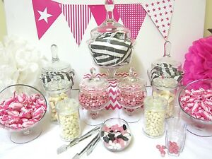12-SET-LILY-Candy-Lolly-Buffet-Glass-Jar-Wedding-Party-Tongs-amp-Scoops
