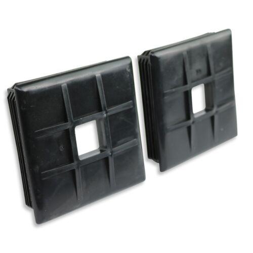 "Pair 4/"" Square Bumper Plug End Cap Cover RV Camper Trailer Vented New"