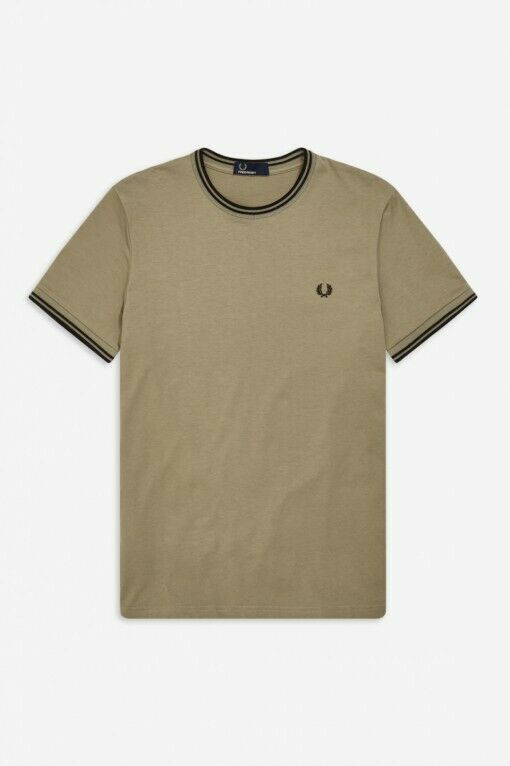 Fred Perry Sage Twin Tipped T-Shirt - M1588 - H04