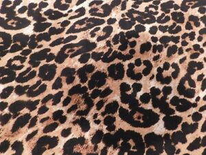 Details About Brown Black And White Leopard Print Fabric 551 Sold By The Yard