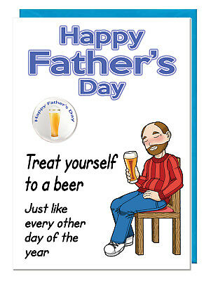 Humour Beer Dad Blank Inside For Your Own Message Father/'s Day Greeting Card