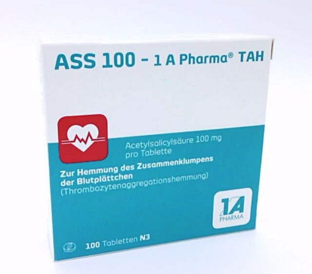 ASS 100 1A Pharma TAH Tabl.   100 st   PZN6312077