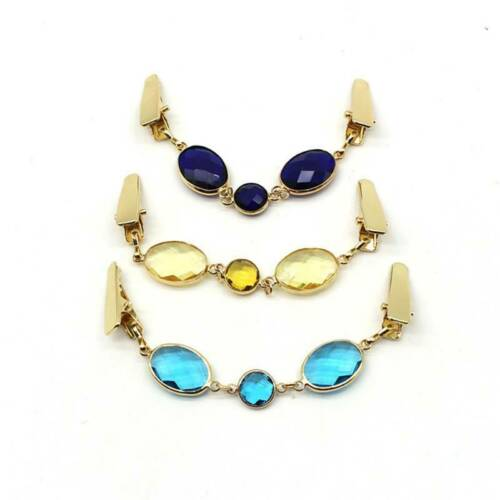 Crystal Shawl Clip Clothing Clip Jewelry Accessorries Cardigan Clip Clothes T