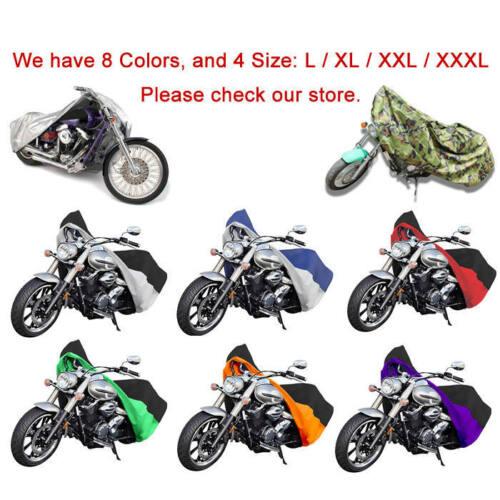 Xxl noir moto cover pour harley davidson dyna glide fat bob street bob