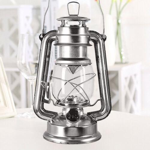 2x Oil Lantern Kerosene Paraffin Hurricane Light Wick Camping Indoor Outdoor UK