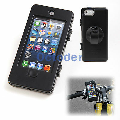 Bicycle Bike Handlebar Sealed Case Waterproof Cover Mount Holder for iPhone 5