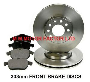 2002- Front /& Rear Brake Discs With Pads 1.8 1.9 2.0 2.2 TTid Saab 93 9-3