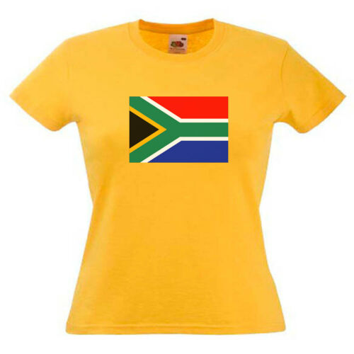 South Africa Flag Ladies Womens Lady Fit T Shirt