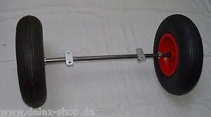 Radsatz-Achse-800-mm-25-mm-mit-Rad-400-mm-fuer-Futterkarre-Bollerwagen-Luftrad