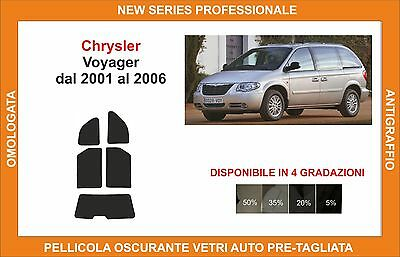 pellicola oscurante vetri chrysler voyager short dal 1996-2001 kit posteriore