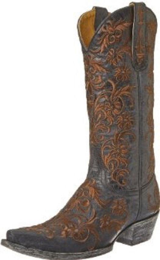 Nuevo En Caja Old Old Old Gringo botas l1266-11 Clarise 13  Vesuvio Negro marr ón de arranque  n ° 1 en línea