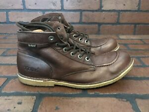 Kickers The Original Jean Boots Brown Leather Lightweight Size 12