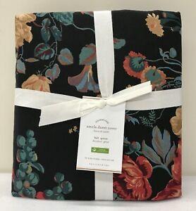 New Pottery Barn Amela Floral Print Full Queen Duvet Cover