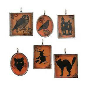 FE/OTC Jewelry Craft Supply - Small Framed Halloween Ornaments 12pcs. #13660839