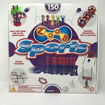 NEW ZOOB Sports Modeling System Building Toy & Games Kit ZOOB-O-Lympics Ages 8+
