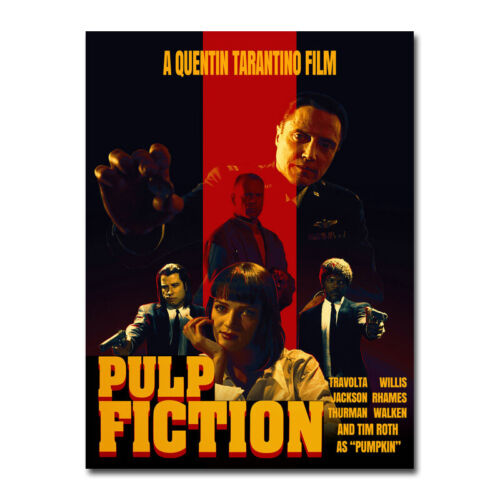 Pulp Fiction Movie Art Silk Canvas Wall Decorative Poster Print 24x32 inch 001