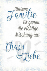 Unsere-Familie-Blechschild-Metallschild-Schild-gewoelbt-Metal-Tin-Sign-20-x-30-cm