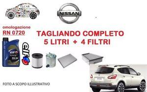 KIT-TAGLIANDO-OLIO-ELF-4-FILTRI-NISSAN-QASHQAI-1-5-DCI-81-KW-110-cv