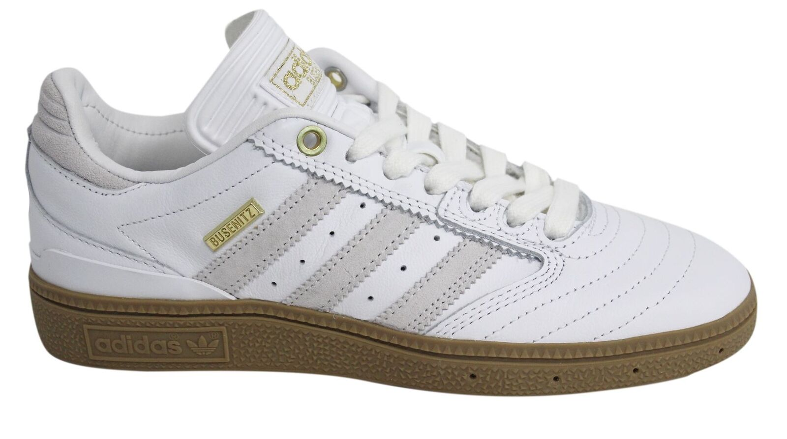 Adidas Busenitz 10 Yr Anniversary Lace Up White Leather Skateboarding Trainers Cheap and beautiful fashion
