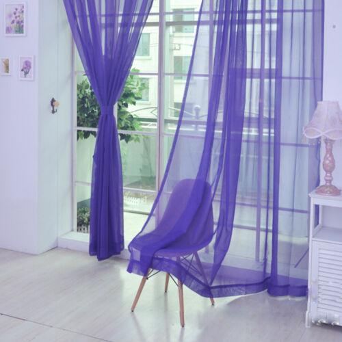Lace Floral Tulle Voile Door Window Curtain Drape Panel Sheer Scarf Valance Bulk