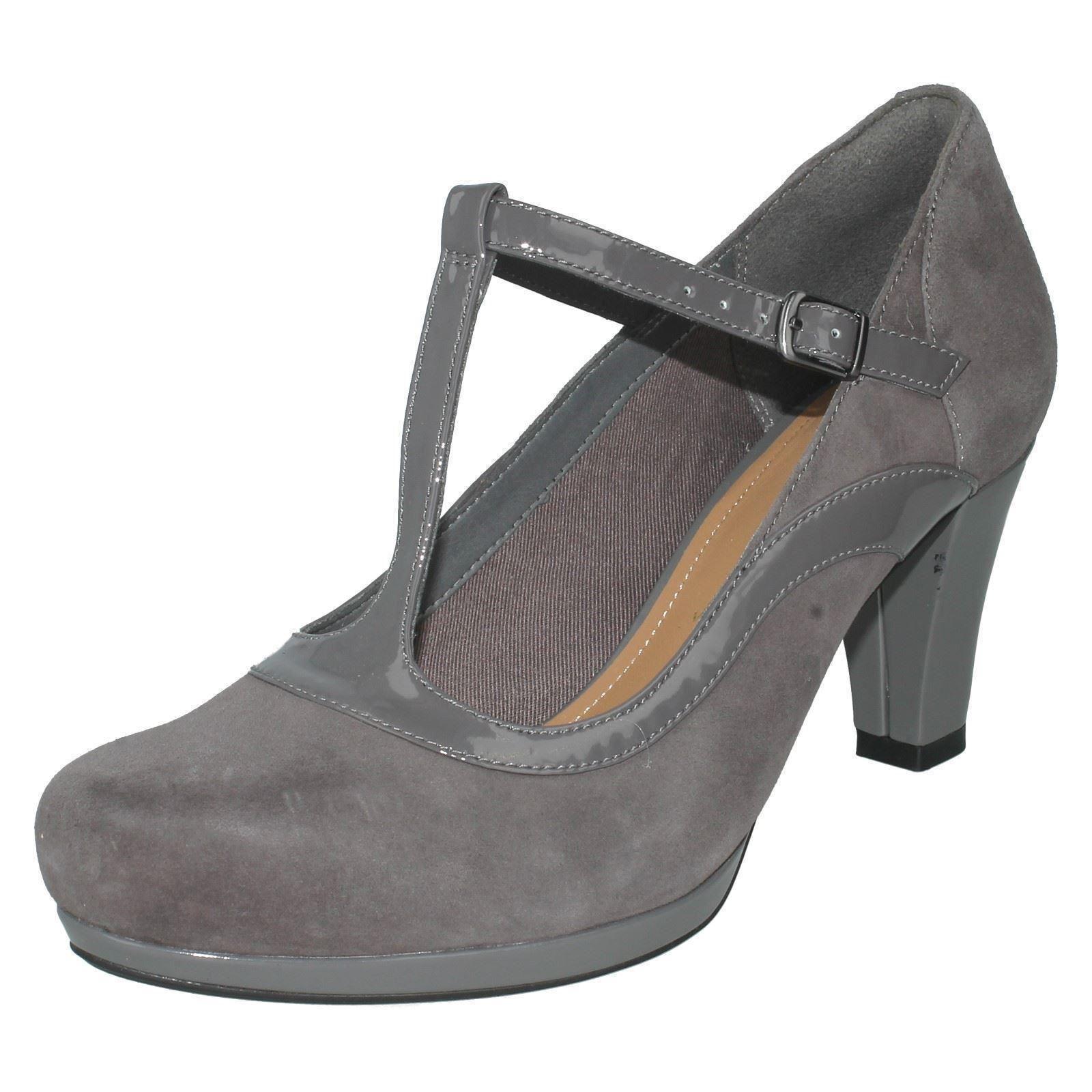 Gran descuento Cuero señoras coro Pitch T-Bar Tribunal zapatos de Clarks - .99