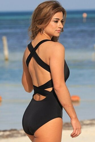UjENA Montego Bay Black 1-PC Swimsuit #G121
