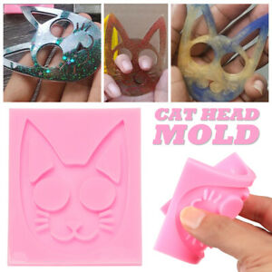 Decoration Knuckles Ring Making Tool Cat Pattern Key Chain Mold Self-Defense