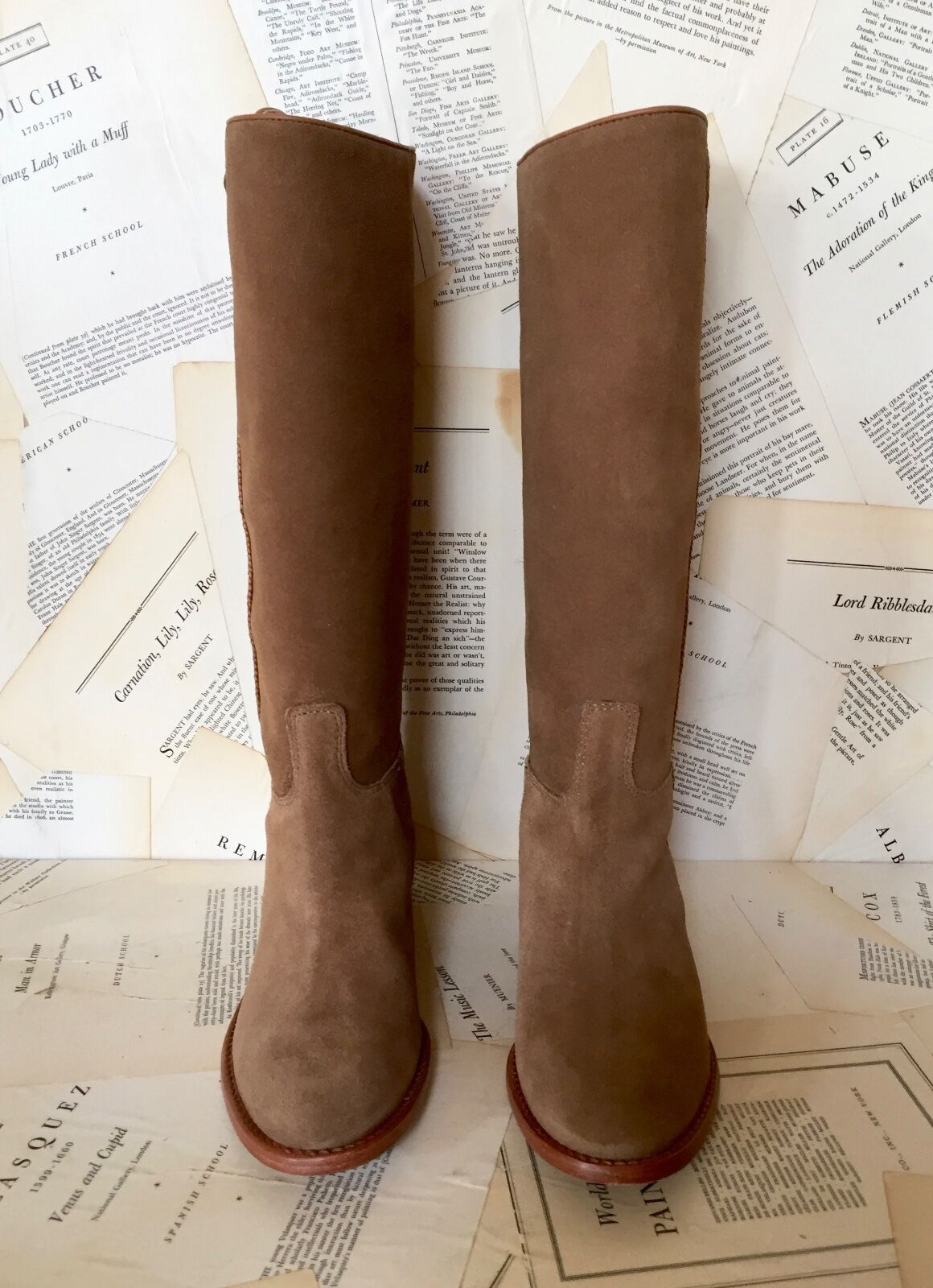 Nuevo En Caja anthropologie en Bota ante lado Trenza Hebilla Tire de Bota en de montar a caballo 6 f19458
