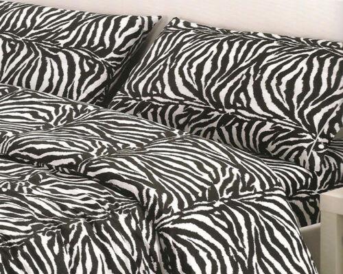 Zebra Design 100/% Cotton Bedding Pillowcases Blue Bedspread Duvet Cover