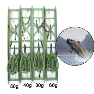 Fishing-hooks-Fishing-Bait-Cage-lead-Swivel-With-Line-Hooks-For-Carp-Feeder-HF