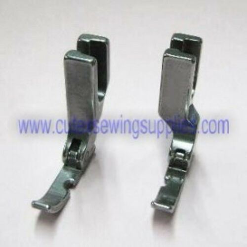 Industrial Sewing Machine Narrow Left /& Right Hinged Zipper Cording Foot Set