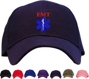 836b4493860 EMT Star of Life Embroidered Baseball Cap - Available in 7 Colors ...