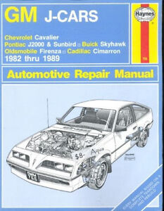 General motors chevrolet cavalier pontiac sunfire haynes repair.